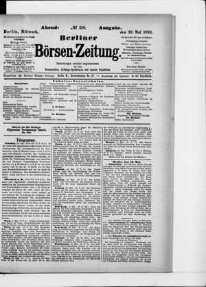 Berliner Börsen-Zeitung vom 10.05.1893