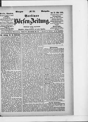 Berliner Börsen-Zeitung on May 13, 1893