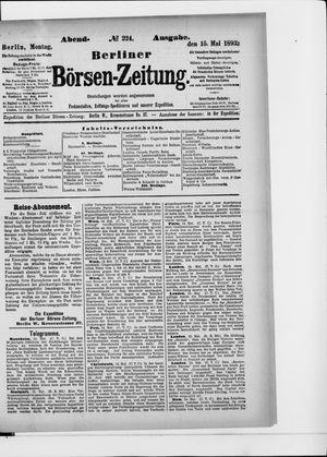 Berliner Börsen-Zeitung vom 15.05.1893