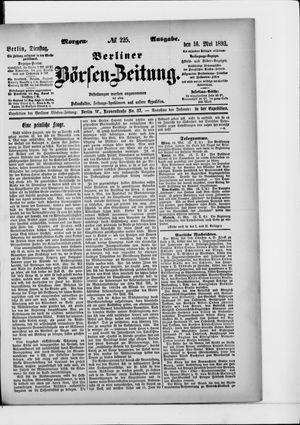 Berliner Börsen-Zeitung on May 16, 1893