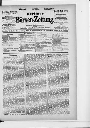 Berliner Börsen-Zeitung vom 17.05.1893