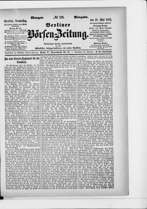 Berliner Börsen-Zeitung vom 18.05.1893