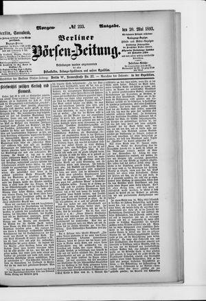 Berliner Börsen-Zeitung vom 20.05.1893