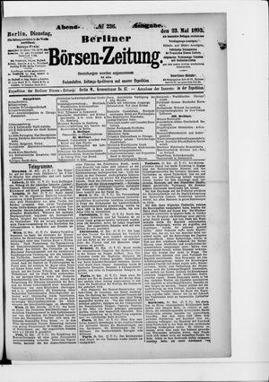 Berliner Börsen-Zeitung vom 23.05.1893