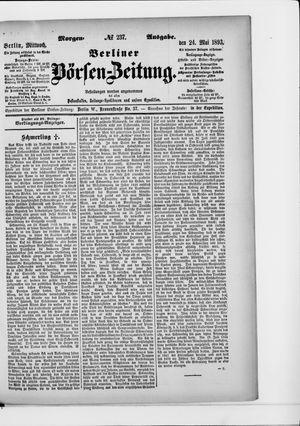 Berliner Börsen-Zeitung vom 24.05.1893