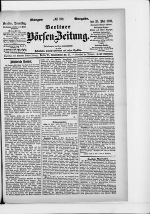 Berliner Börsen-Zeitung vom 25.05.1893