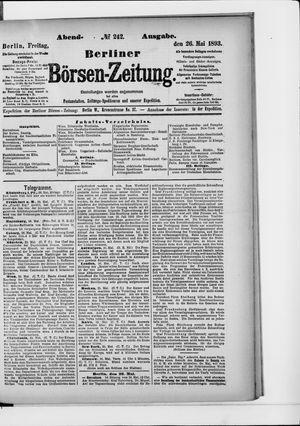 Berliner Börsen-Zeitung vom 26.05.1893