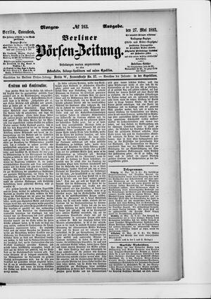 Berliner Börsen-Zeitung vom 27.05.1893