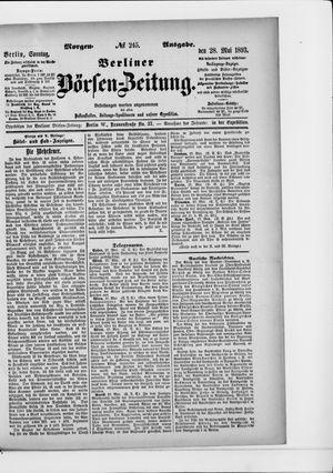 Berliner Börsen-Zeitung vom 28.05.1893
