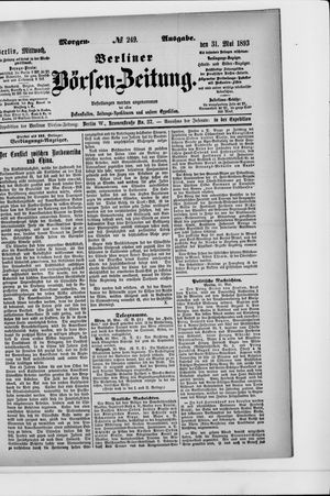 Berliner Börsen-Zeitung vom 31.05.1893