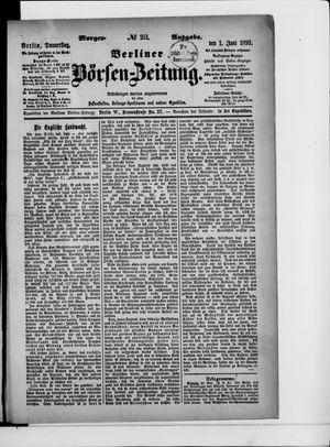 Berliner Börsen-Zeitung vom 01.06.1893