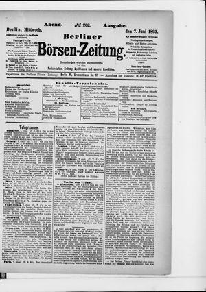 Berliner Börsen-Zeitung vom 07.06.1893