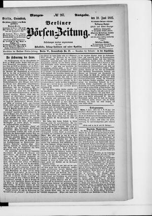 Berliner Börsen-Zeitung vom 10.06.1893