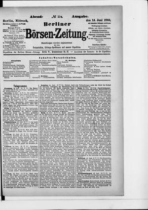 Berliner Börsen-Zeitung vom 14.06.1893
