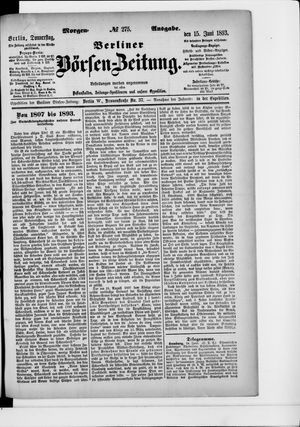 Berliner Börsen-Zeitung vom 15.06.1893