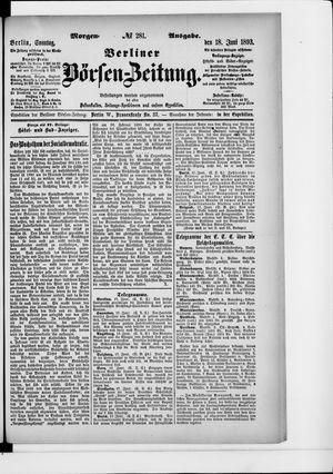 Berliner Börsen-Zeitung vom 18.06.1893