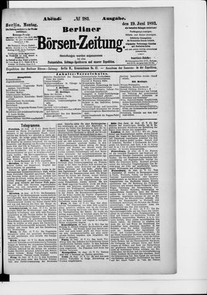 Berliner Börsen-Zeitung vom 19.06.1893