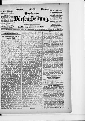 Berliner Börsen-Zeitung vom 21.06.1893