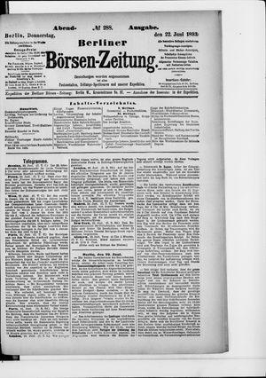 Berliner Börsen-Zeitung on Jun 22, 1893