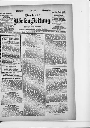 Berliner Börsen-Zeitung vom 25.06.1893
