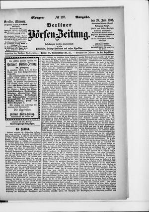 Berliner Börsen-Zeitung vom 28.06.1893