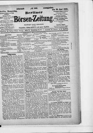 Berliner Börsen-Zeitung vom 29.06.1893