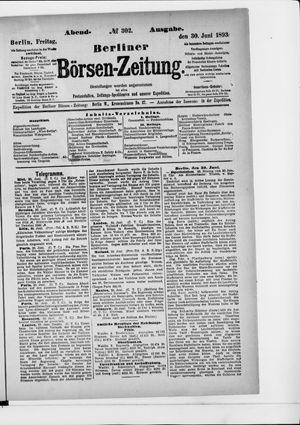 Berliner Börsen-Zeitung vom 30.06.1893