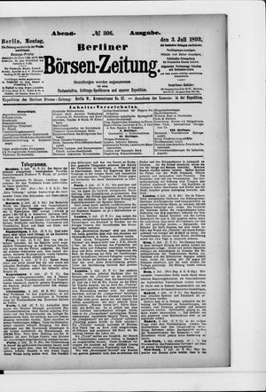 Berliner Börsen-Zeitung vom 03.07.1893