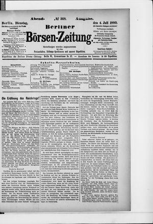 Berliner Börsen-Zeitung vom 04.07.1893