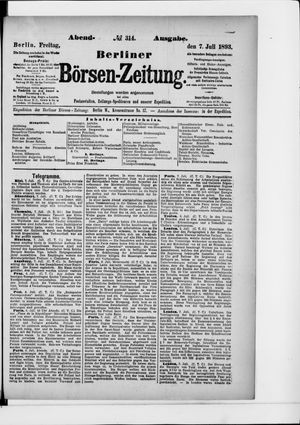Berliner Börsen-Zeitung vom 07.07.1893
