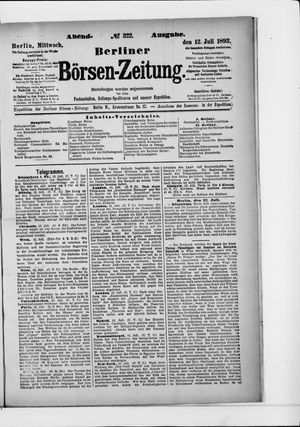 Berliner Börsen-Zeitung vom 12.07.1893