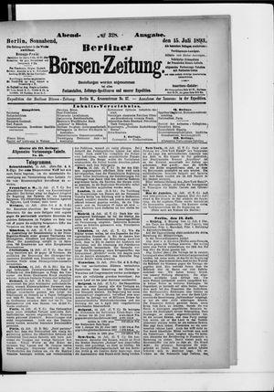 Berliner Börsen-Zeitung vom 15.07.1893