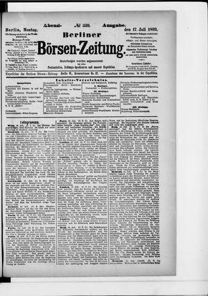 Berliner Börsen-Zeitung on Jul 17, 1893