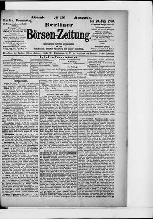 Berliner Börsen-Zeitung vom 20.07.1893