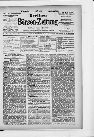 Berliner Börsen-Zeitung vom 22.07.1893