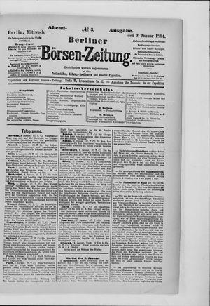 Berliner Börsen-Zeitung vom 03.01.1894