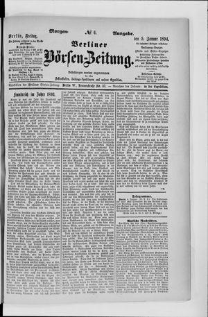 Berliner Börsen-Zeitung vom 05.01.1894