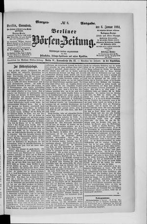 Berliner Börsen-Zeitung vom 06.01.1894