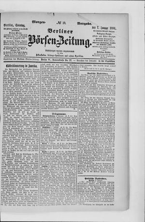 Berliner Börsen-Zeitung vom 07.01.1894