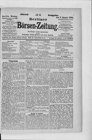 Berliner Börsen-Zeitung vom 08.01.1894
