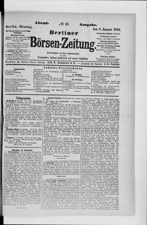 Berliner Börsen-Zeitung vom 09.01.1894