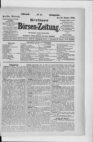 Berliner Börsen-Zeitung vom 10.01.1894