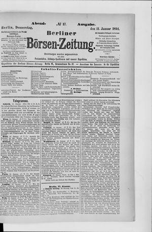Berliner Börsen-Zeitung vom 11.01.1894