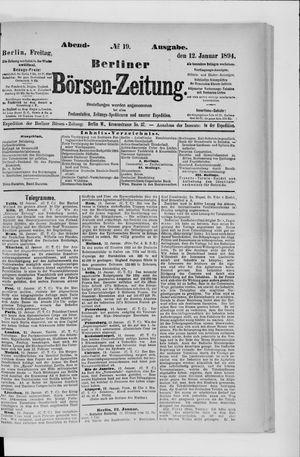 Berliner Börsen-Zeitung vom 12.01.1894