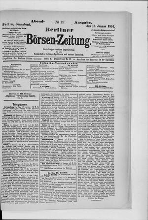 Berliner Börsen-Zeitung vom 13.01.1894