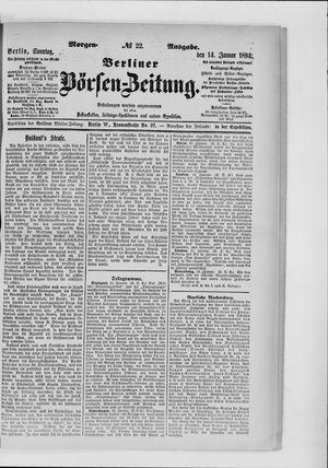 Berliner Börsen-Zeitung vom 14.01.1894