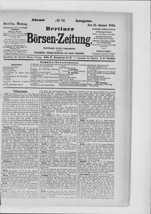 Berliner Börsen-Zeitung vom 15.01.1894