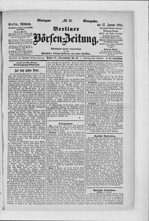 Berliner Börsen-Zeitung vom 17.01.1894