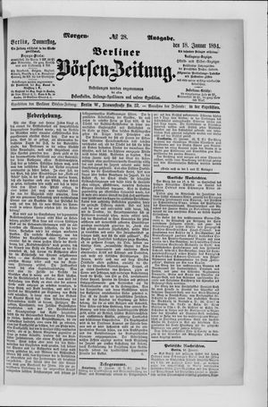 Berliner Börsen-Zeitung vom 18.01.1894