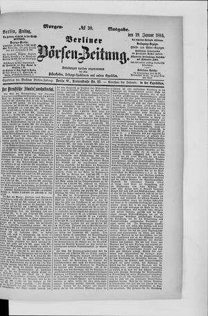 Berliner Börsen-Zeitung vom 19.01.1894